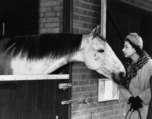 Elisabetta appassionata dei cavalli
