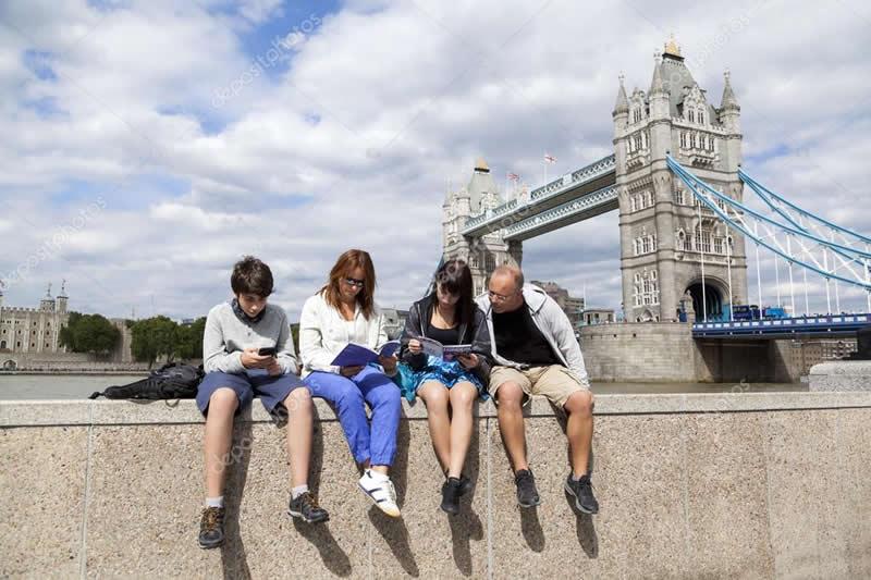 Turisti a Londra
