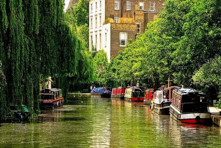 Itinerario lungo i Canali di Londra