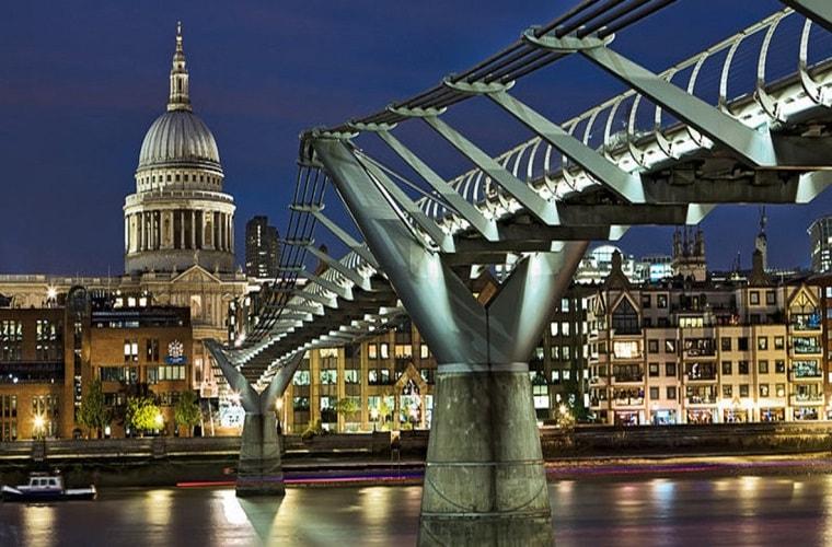 Il Millennium Bridge a Londra