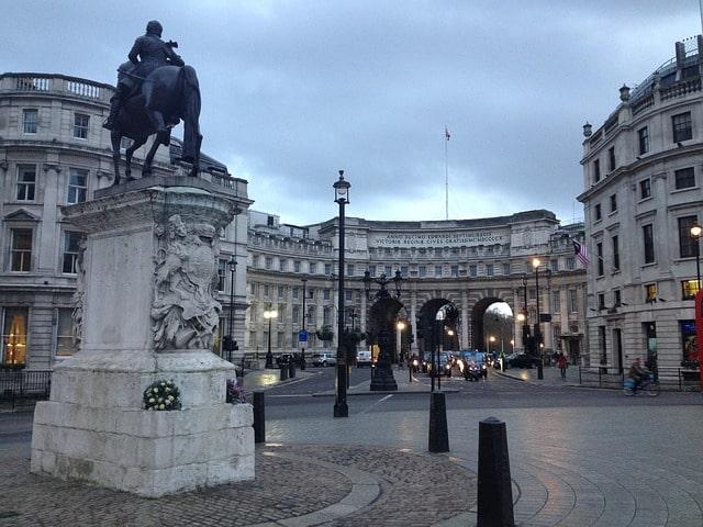 Lato sud di Trafalgar Square