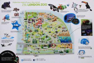 La mappa dello Zoo di Londra